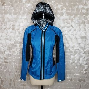 Lululemon Bundle Up Run Black Blue Lace Jacket 6